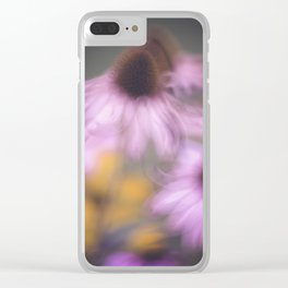 whispy flowers Clear iPhone Case