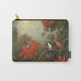 Martin Johnson Heade - Hummingbird and Passionflowers Carry-All Pouch
