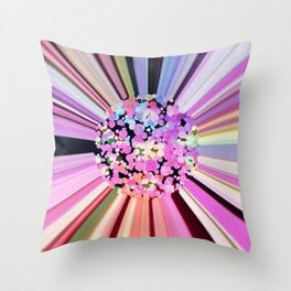 Colorful Confetti Striations Throw Pillow