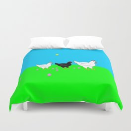 Hens and eggs Duvet Cover