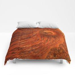 Orange Lily Fractal Comforters