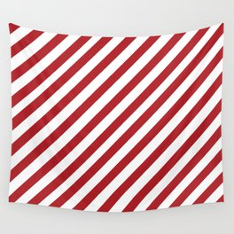 Candy Cane - Christmas Illustration Wall Tapestry