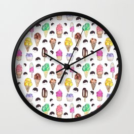 Ice Cream Flavors Wall Clock