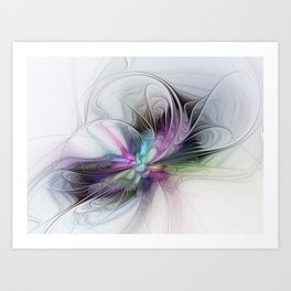 New Life, Abstract Fractals Art Art Print