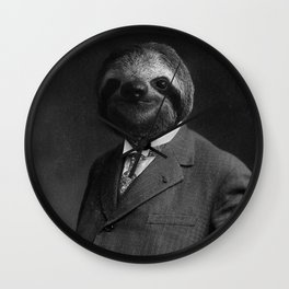 Gentleman Sloth 8# Wall Clock