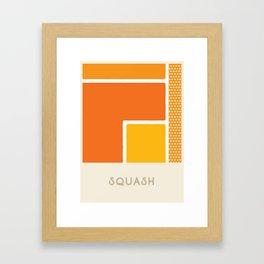 Squash (Sports Surfaces Series, No. 20) Framed Art Print