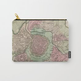 Vintage Map of Vienna Austria (1716) Carry-All Pouch