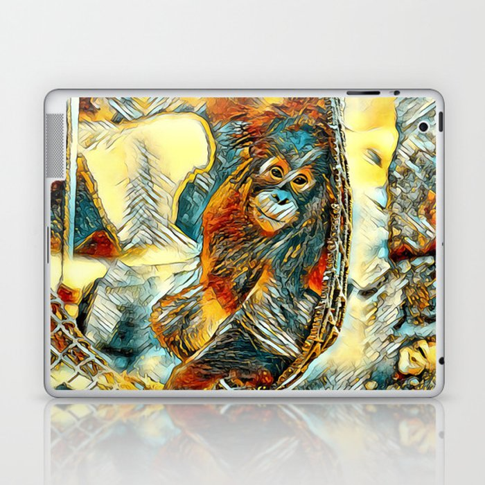 AnimalArt_OrangUtan_20170605_by_JAMColorsSpecial Laptop & iPad Skin