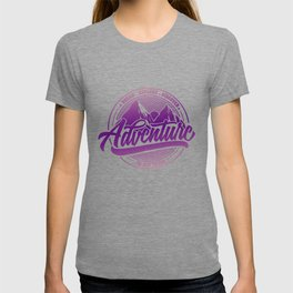 Dream Explore Discover Adventure Is Out There pu T-shirt