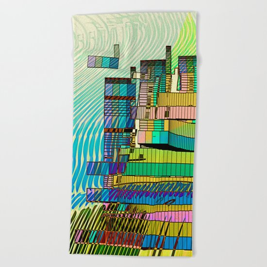 LIVING in MARS / Building 06-07-16 Beach Towel