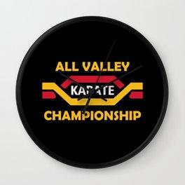 All valley karate - karate kid Wall Clock