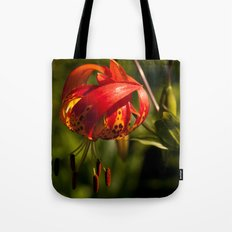 Firery Lily Tote Bag