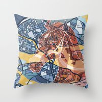 stockholm Throw Pillows featuring STOCKHOLM by C. Reeder