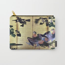 Tosa Mitsuyoshi Peafowl and Phoenixes Carry-All Pouch