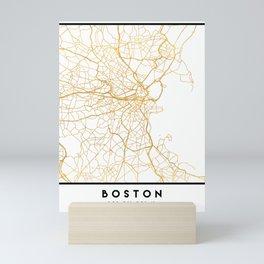 BOSTON MASSACHUSETTS CITY STREET MAP ART Mini Art Print