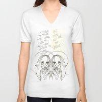 ahs V-neck T-shirts featuring Violet AHS by Luna Perri