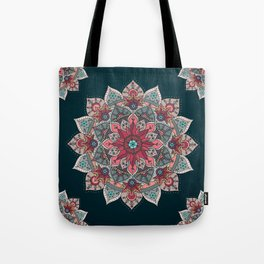 Winter holidays doodles mandala design Tote Bag