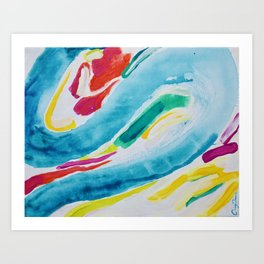 Fall waves Art Print