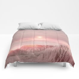 Pastel desert Comforters