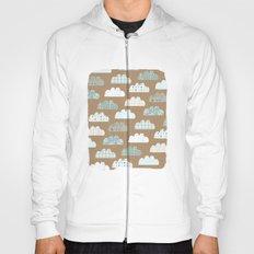 clouds pattern Hoody