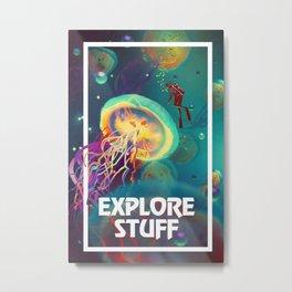 Exploration Motivation Metal Print
