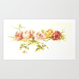 'Rose Leaves' 1898 Art Print
