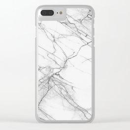 Marble, Print, Minimal, Scandinavian, Abstract, Pattern, Modern art Clear iPhone Case