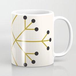 Mod Snowflake Olive Coffee Mug