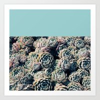 succulents Art Prints featuring Succulents by Leah Flores