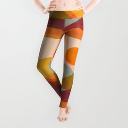 Abstraction_SUNSET_LANDSCAPE_POP_ART_Minimalism_018X Leggings