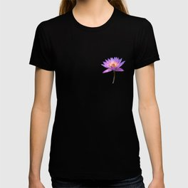 Purple Lotus Flower Geometric style T-shirt