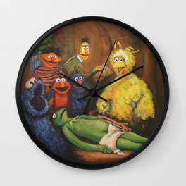 The Anatomy Lesson of Dr. Bird Wall Clock