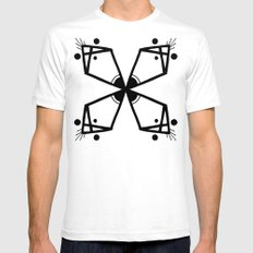 Pattern 1 White Mens Fitted Tee SMALL