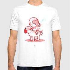The Dog, the Monkey, and the Rain Mens Fitted Tee White MEDIUM