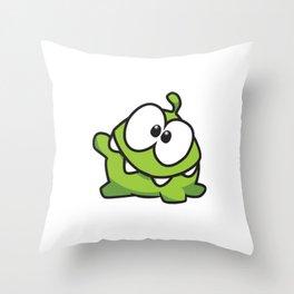 Om nom Throw Pillow