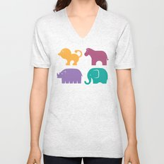 Fun at the Zoo: Pattern Unisex V-Neck