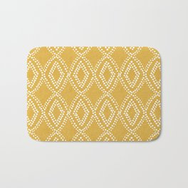 Diamond Dots in Yellow Bath Mat