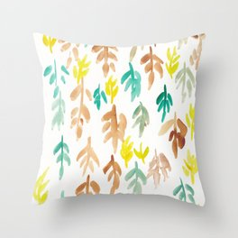180726 Abstract Leaves Botanical 21|Botanical Illustrations Throw Pillow