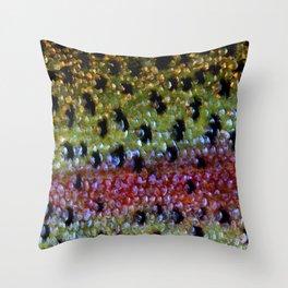Beautiful Skin, Rainbow Bronze Throw Pillow