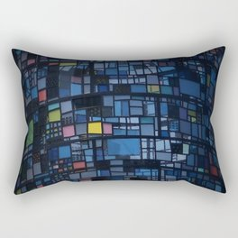 Stained glass water tower Rectangular Pillow
