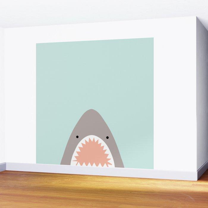 shark attack Wall Mural