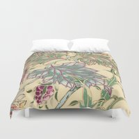 tiffany Duvet Covers featuring tiffany garden by Ariadne