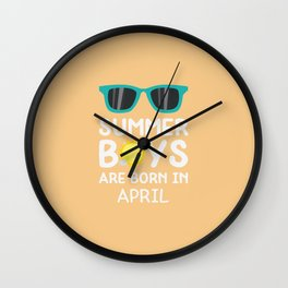 Summer Boys in APRIL T-Shirt for all Ages Dtkzh Wall Clock