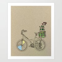 bicycle Art Prints featuring Bicycle by Madmi