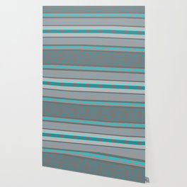 Southwestern Turquoise and Gray Wallpaper