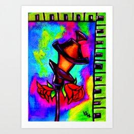 Nola Rose Street Lamp Art Print