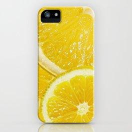 Juicy Lemon Slices Fruit Design iPhone Case