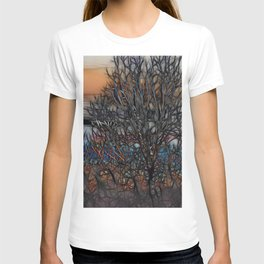 Abstract Sunset Tree T-shirt