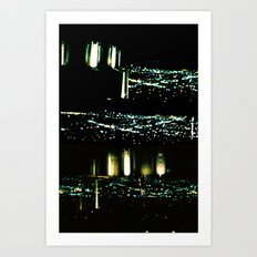 Los Angeles through a pinhole Art Print
