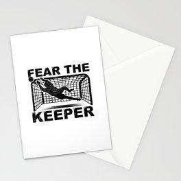 Goalkeeper Goalie Soccer Gift Fear The Keeper Stationery Cards